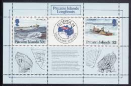 Pitcairn Islands MNH Scott #248 Sheet Of 2 Longboats - AUSIPEX 84 - Pitcairn