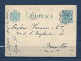 Briefkaart Van Amsterdam Naar Bruxelles  11/02/1880 (GA6063) - Postal Stationery