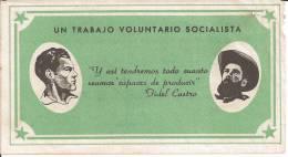 CUBA/KUBA RARO E SPLENDIDO BUONO TRABAJO VOLUNTARIO SOCIALISTA