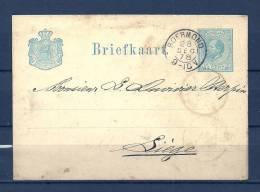 Briefkaart Van Roermond Naar Liege  28/12/1878 (GA6066) - Postal Stationery