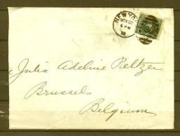 Brief Van New York Naar Brussel (Belgium) 23/11/1892 (GA6130) - Postzegels