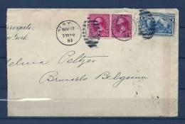Brief Van New York Naar Brussel (Belgium) 17/05/1893 (GA6131) - Postzegels