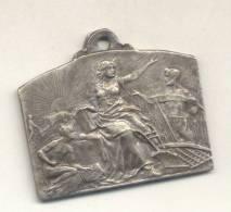 PROVINCIA DE SANTA FE SEGUNDO CONCURSO Y EXPOSICION DE PRODUCTOS AGRICOLAS AÑO 1915 BRONCE PLATEADO - Tokens & Medals