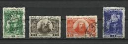 Russia 1934 Sc 536-9 Mi 476-479 Used  Mendeleev - Used Stamps