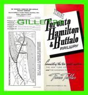 TIMETABLES -SCHEDULES - OCTOBER 25, 1964 - TORONTO, HAMILTON & BUFFALO RAILWAY - NEW YORK CENTRAL SYSTEM & C.P.R. - - World