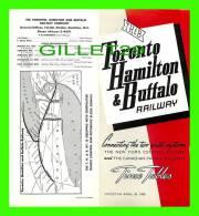 TIMETABLES -SCHEDULES - APRIL 25, 1965 - TORONTO, HAMILTON & BUFFALO RAILWAY - NEW YORK CENTRAL SYSTEM & C.P.R. - - World