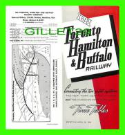 TIMETABLES -SCHEDULES - APRIL 26, 1964 - TORONTO, HAMILTON & BUFFALO RAILWAY - NEW YORK CENTRAL SYSTEM & C.P.R. - - Mundo