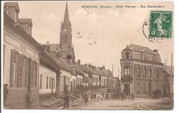 80 - BEAUVAL - Hôtel National - Rue Charles Saint - Beauval