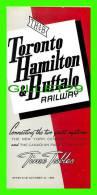 TIMETABLES -SCHEDULES - OCTOBER 27, 1963 - TORONTO, HAMILTON & BUFFALO RAILWAY - NEW YORK CENTRAL SYSTEM & C.P.R. - - World