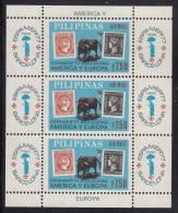 Philippines MNH Scott #C110 Souvenir Sheet Of 3 7.50p Philippines And Spain #1 - ESPAMER 77 - Philippines