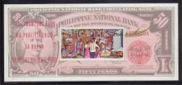 Philippines MNH Scott #C93 Souvenir Sheet 70s Family, Progress Symbols On 50p Note - 50th Ann Philippine National Bank - Philippines