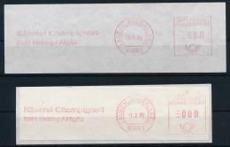 Germany Deutschland 2x Meter Mark Cheese Fromage Freistempel Käse °BL 0081 - Ernährung