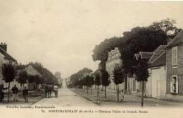 78- PONTCHARTRAIN-  Château Vilain Et Grande Route- Animée - Le Chesnay