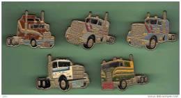 CAMIONS *** Lot De 5 Pin´s Differents *** (018) - Transport Und Verkehr
