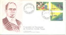 CENTENARIO DO NASCIMENTO DO PRESIDENTE GETULIO VARGAS AÑO 1984 FDC BRASIL TBE ENVELOPPE SOBRE - Brasilien