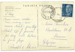Espana 1959 Tossa De Mar Gerona >> Belgique Kuurne - 1951-60 Lettres