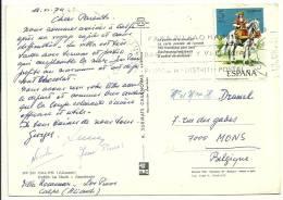 Espana 1974 Calpe Alicante >> Belgique Mons - 1931-Aujourd'hui: II. République - ....Juan Carlos I