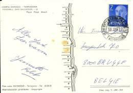 Espana 1977 San Vicente De Calders Tarragona >> Belgique Brugge - 1931-Aujourd'hui: II. République - ....Juan Carlos I