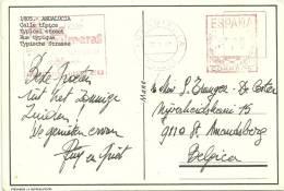 Espana 1980 Fuengirola Malaga >> Belgique / Hotel Palmeras - Marcofilia - EMA ( Maquina De Huellas A Franquear)
