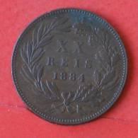 PORTUGAL  20  REIS  1884   KM# 527  -    (1924) - Portugal