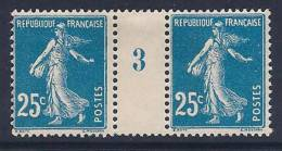 France, Scott # 168 Mint Hinged Pair, (one Stamp Is MNH), Millesines #3, Sower, 1906 - Unused Stamps