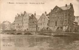 MEAUX 26 JANVIER 1910 MOULINS SUR LE PONT - Meaux