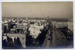 Maroc--CASABLANCA-carte-photo--Place De France Et Port Au 2°plan)--Légende Au Dos De La Carte--très Belle Carte à Saisir - Casablanca