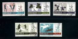 KHOR FAKKAN Série Compléte De 5 Jeux Pan-arabes 1965 Oblit. - Khor Fakkan