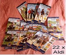 22 X ALDI Informiert 2007 Reklame Prospekte  - Insgesammt  Ca. 370 Seiten - Reclame