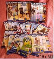19 X ALDI Informiert 2006 / 2007 Reklame Prospekte  - Insgesammt  Ca. 340 Seiten - Reklame