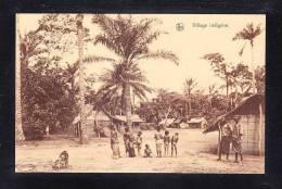 AFR-57 CONGO BELGE VILLAGE INDIGENE - Congo - Brazzaville