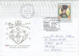 MOLDOVA ; MOLDAVIE ;  MOLDAU ; 2009 ;  650 Years-Moldovan State ; Coat ; Speciall Cancell.Used Pre-paid Envelope. - Moldova