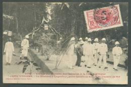 GUINEE FRANCAISE 10 Centimes Obl. Sc LA ROCHELLE PALLICE 16-7-1910 Sur C.V. (de Côte D´Ivoire) Vers Wavre + Griffe PAQUE - Côte D'Ivoire (1960-...)