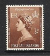TOKELAU 1953 KRÖNUNG KÖNIGIN ELISABETH/ CORONATION QE II  Mi 4 ** - Tokelau