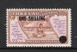 TOKELAU 1956 FREIMARKE/DEFINITIVE Mi 1 VON 1948 MIT NEUEM WERTAUFDRUCK; OVERPRINT Mi 5 ** - Tokelau