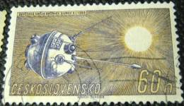 Czechoslovakia 1961 Space Exploration Lunik 1 60h - Used - Used Stamps