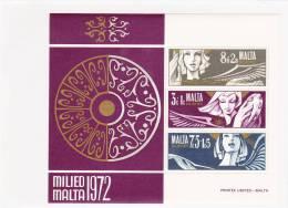 Malta Minisheet: 1972 Milied Malta UM/MNH (A19) - Malta