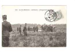 CPA -  Vie Militaire : Artillerie - Chargement De L´Obus - Manovre