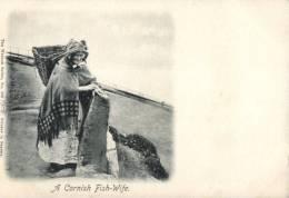 (190) Very Old Postcard - Carte Ancienne - UK - Cornish Fish Wife - Otros