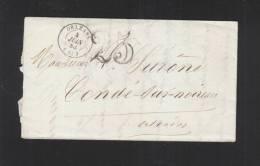 Lettre Orleans Conde 1856 - Poststempel (Briefe)