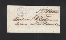Lettre Metz 1850 - Poststempel (Briefe)