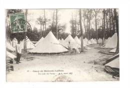 CPA - 78 - Yvelines - Maisons Laffitte : Camp De Maisons Laffitte  : Un Coin Du Camp : Animation - Tentes - Guerre 1914-18