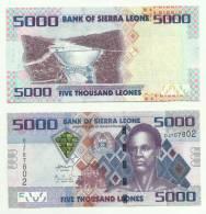SIERRA LEONE 5000 Leones 2010 P-New UNC - Sierra Leone