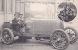 """SEINE INFERIEURE  -  Grand Prix De A.C.F. En 1908  -  RIGAL Sur Voiture """" BAYARD-CLEMENT """" - Course De Voitures, Tacot - Non Classificati"""
