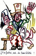Révolution Bastille Révolution Française Je T´en Foutrai Moi Du Sans Culotte La Féssée Illustrateur Signé Fourmeaux - Other Illustrators
