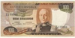 BILLET # ANGOLA  # 1972 # 100 ESCUDOS # CEM ESCUDOS  # N° 101 #  MARECHAL CARMONA - Angola