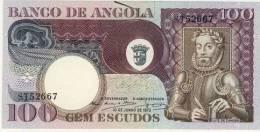 BILLET # ANGOLA  # 1973 # 100 ESCUDOS # CEM ESCUDOS  # N° 106 # LUIS DE CAMOES - Angola