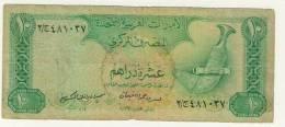 BILLET # EMIRATS ARABES UNIS  # 1982  # 10 DIRHAMS  #  N°8 # - Emirats Arabes Unis