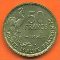 Monnaie De 50 Francs G .guiraud 1952  Qualite SUP + - M. 50 Francs