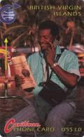 Brithish Virgin Islands . BVI 3B . Man On Phone . MINT . - Jungferninseln (Virgin I.)